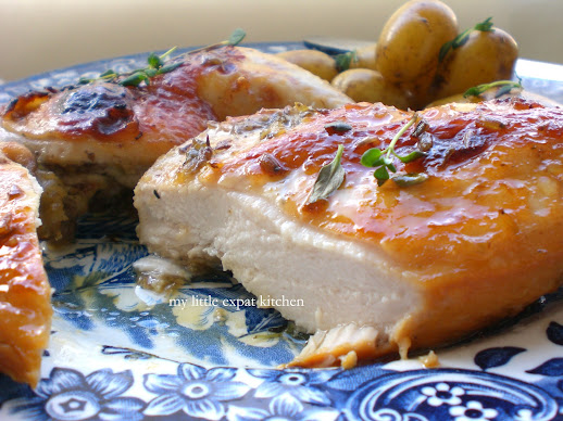 Honey, Lemon and Lavender-Marinated Roasted Chicken
