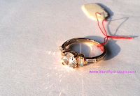 Cincin Xuping Diamond Doubleside