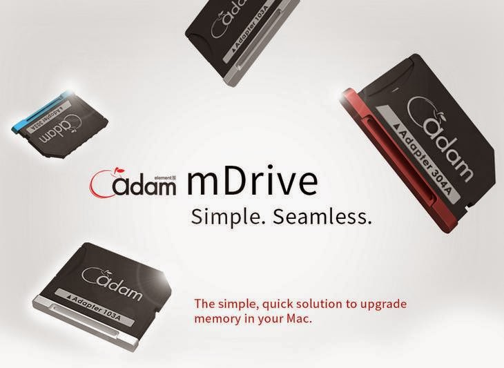 Adam Elements Unveils mDrive Aluminum Alloy Adapter Card For MacBook