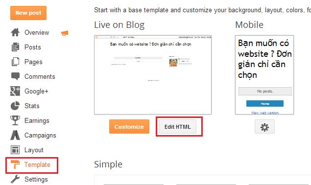 Hướng dẫn bỏ tiện ích cung cấp bởi blogger trong blogspot