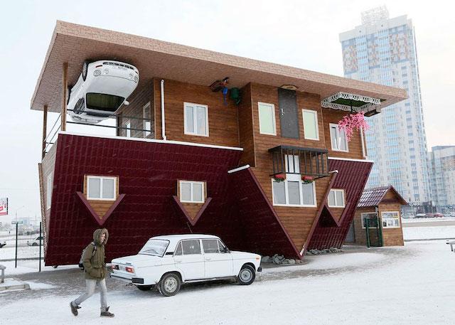 Casa de Cabeça para baixo na Krasnoyarsk, Russia