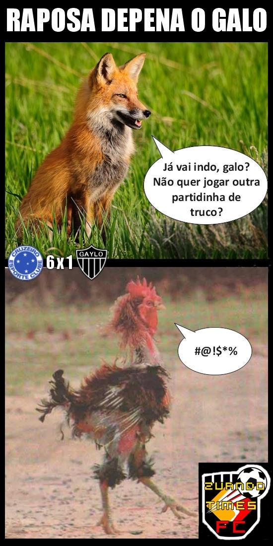 Cruzeiro 6 X 1 Atl  Tico MG     Zuando O Galo Depenado Pela Raposa