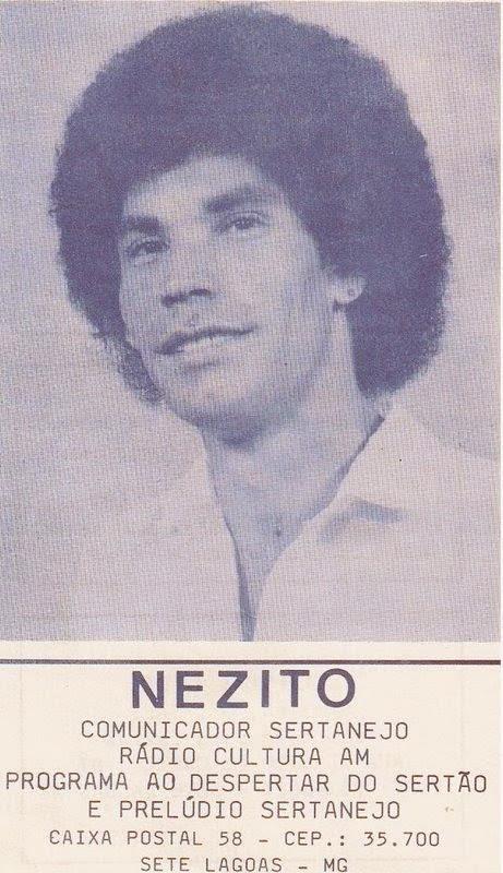Nezito quando deu seu primeiro passo como comunicador na  rádio! 1983.