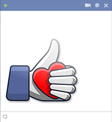 Thumbs Up Love Emoticon