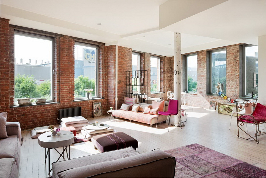 Exceptional bohemian style loft in chelsea for Loft apartments in nyc