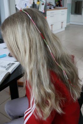 garn i håret