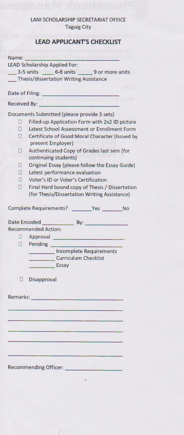 Tidbits and bytes lani scholarship application form for for Scholarship guidelines template