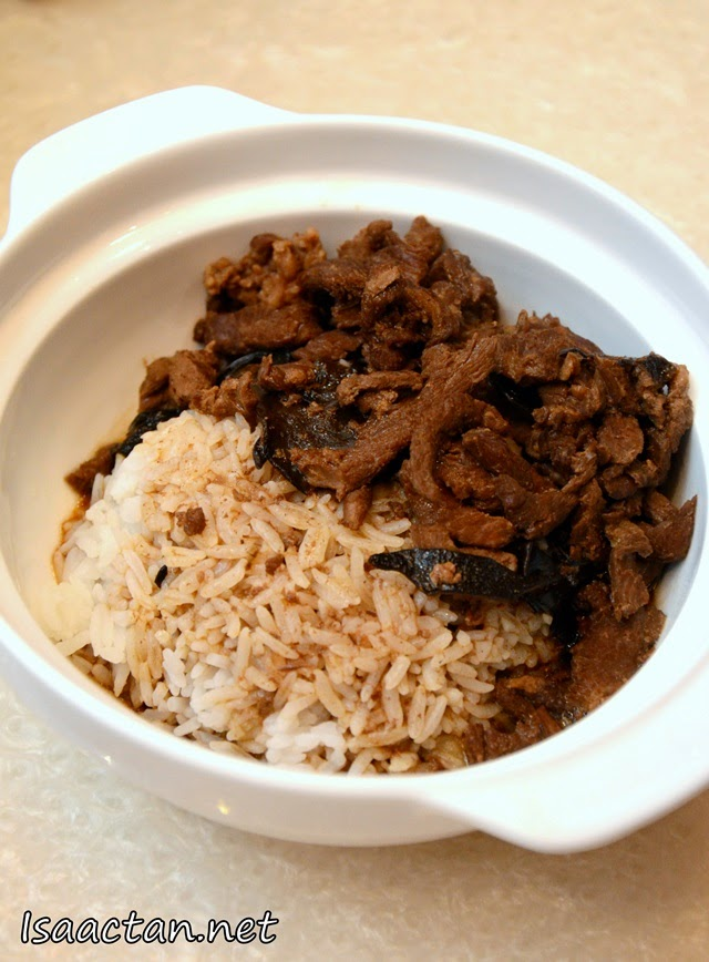 #6 Angelica Dang gui Stewed Pork topped on Rice - RM7.90