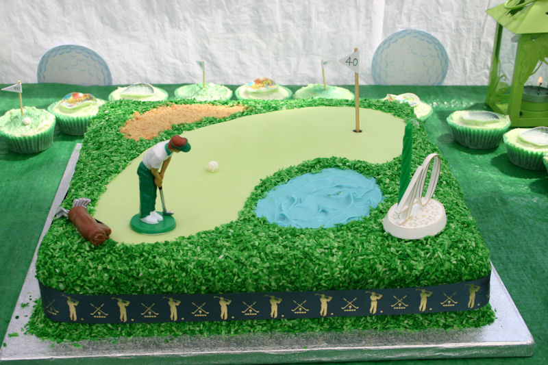 Flour Power Cake Journey Golf Themed Cake