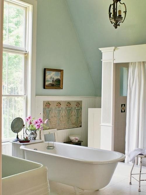 To da loos january 2014 for Mint green bathroom ideas