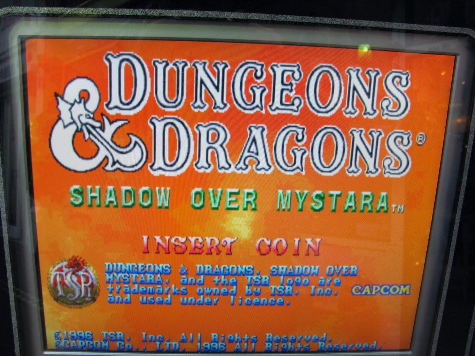 D&D Shadow Over Mystara Arcade Title Screen