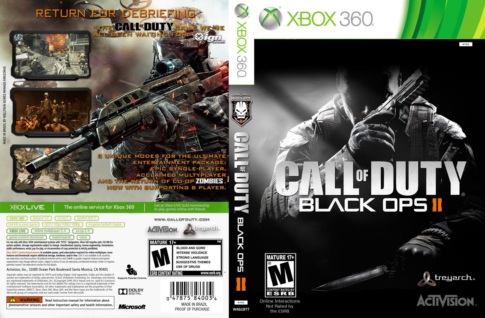 Xbox One Call Of Duty Black Ops 2 Call of Duty : Black O...