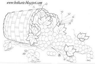 balaio de uvas para pintar