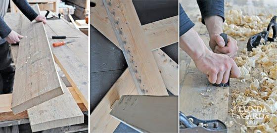 Retro Koksbord :  , lantliv, vintage, forg & form Bord av gamla golvplankor