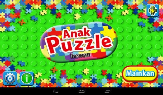 Aplikasi Android Game Anak Puzzle hewan