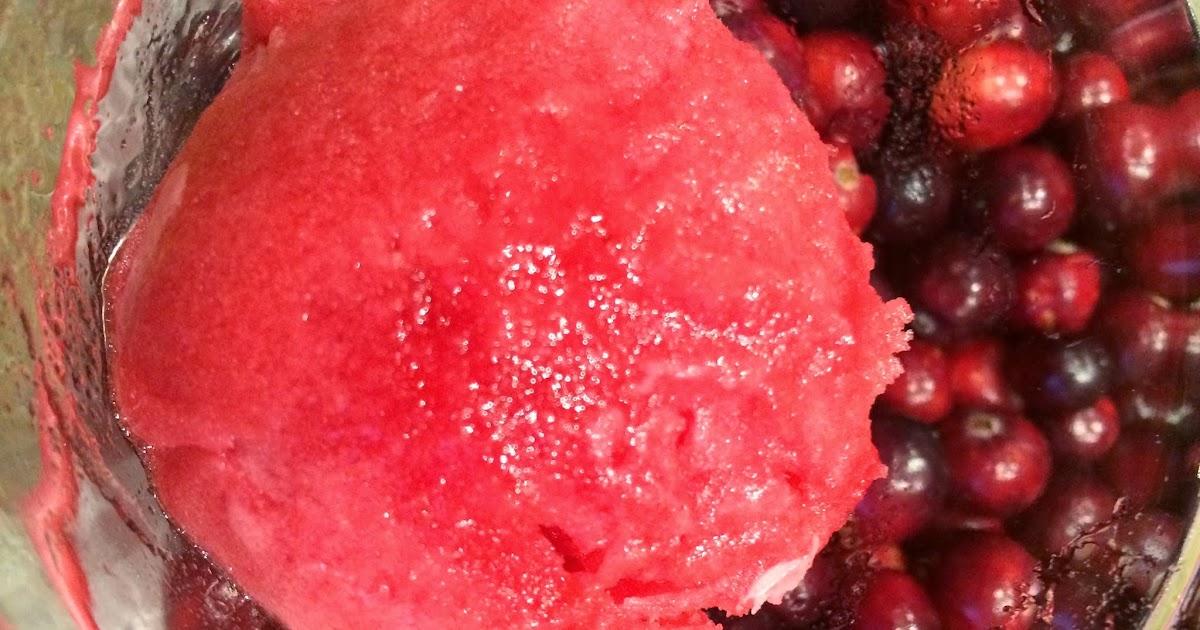 Food Wonk: Cranberry Sorbet