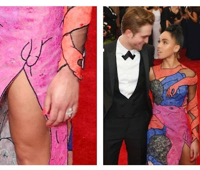 Photos: See What is wrong with this pictures of  Robert Pattinson And GF