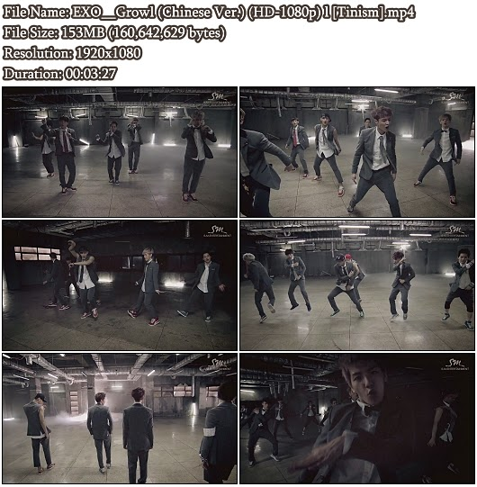 Download MV EXO (엑소) - Growl (으르렁) (Chinese Ver.) (Full HD 1080p)