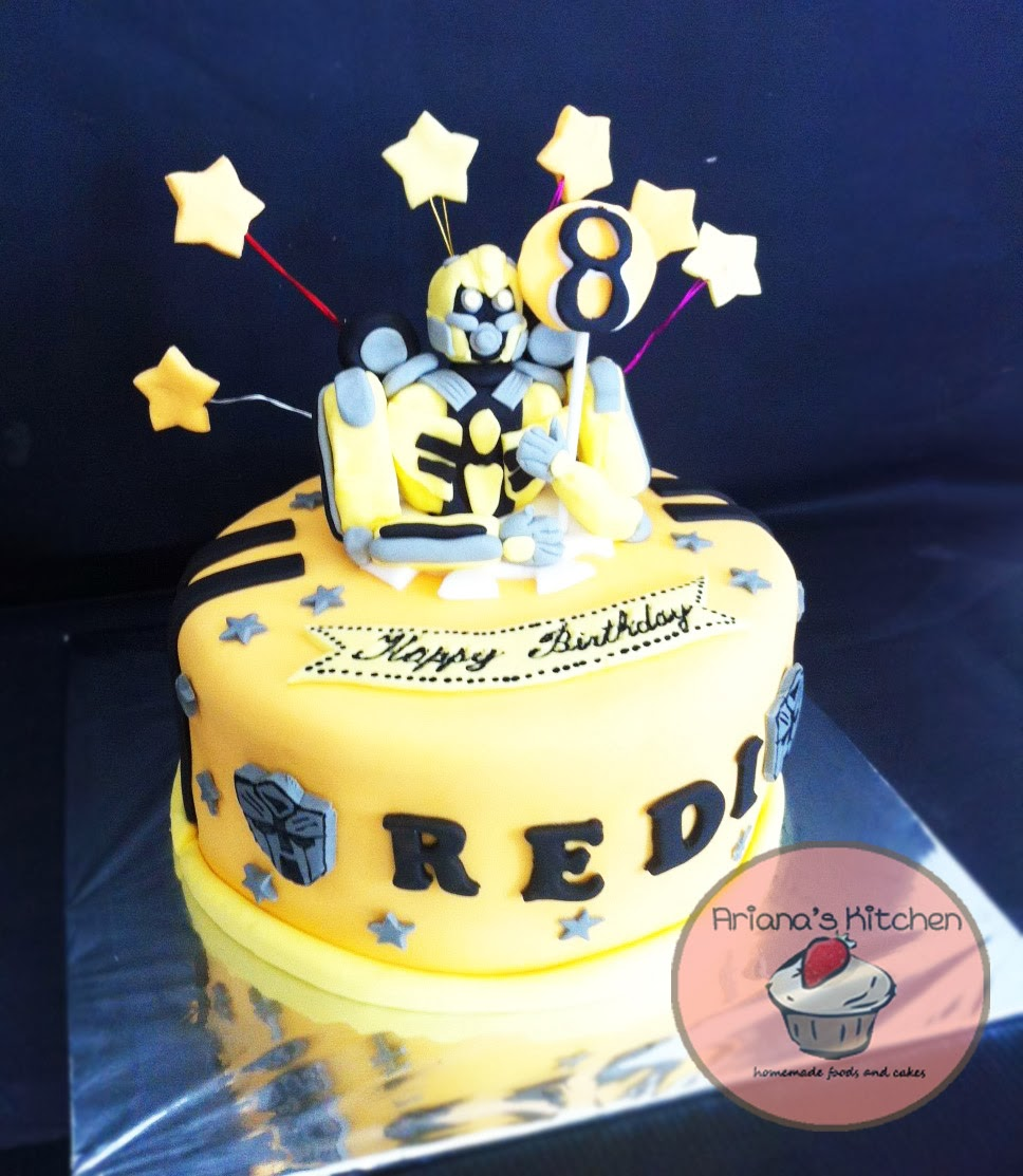 Arianas Kitchen Bumblebee Birthday Cake
