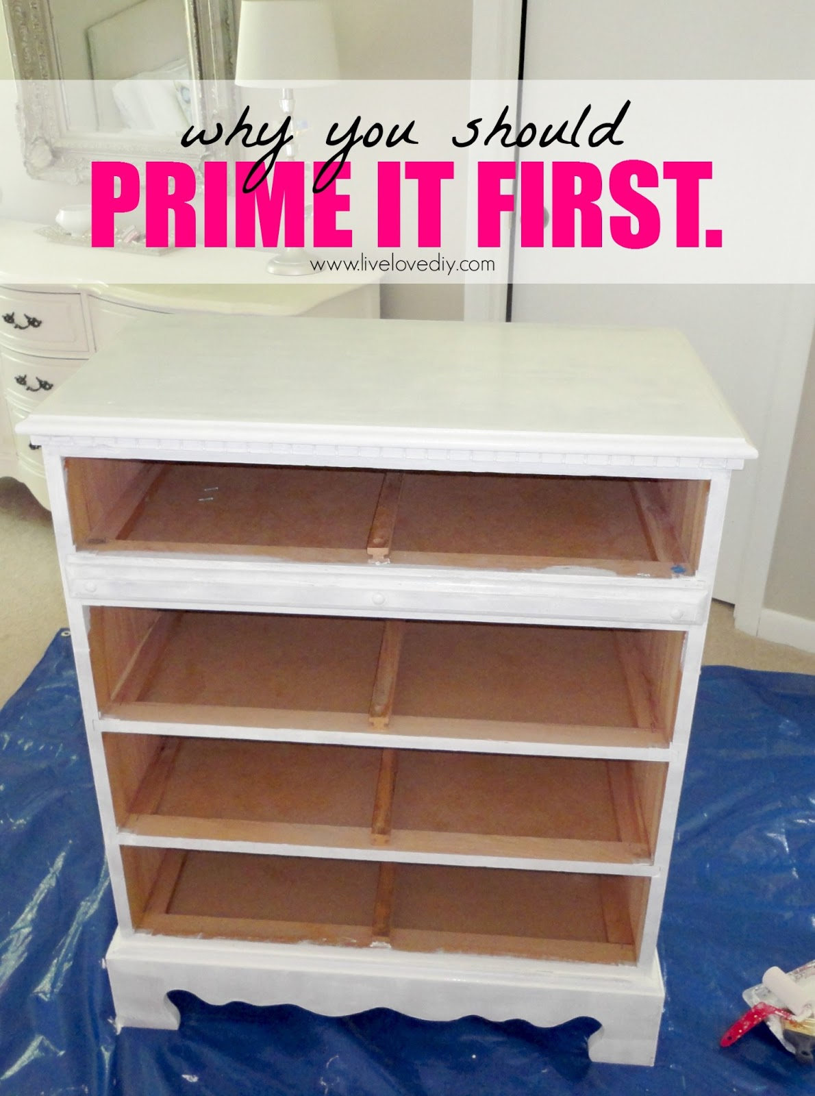 LiveLoveDIY How To Paint Laminate Furniture in