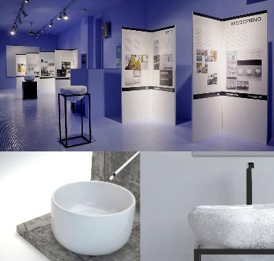 Ceramica Flaminia espone nel suo Showroom di Milano (via Solferino 18) le due opere selezionate in scala 1:1