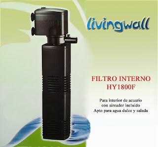 filtro acuario pecera interno sumergible economico