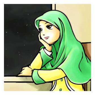 Gambar DP BBM Animasi Muslimah Bergerak Terbaru  Kochie Frog