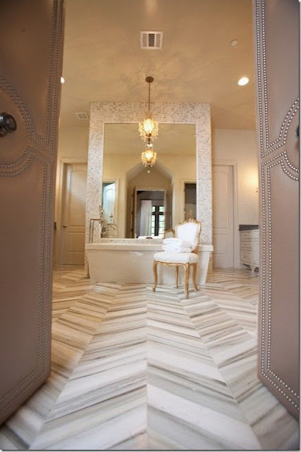 beige chevron bathroom tile