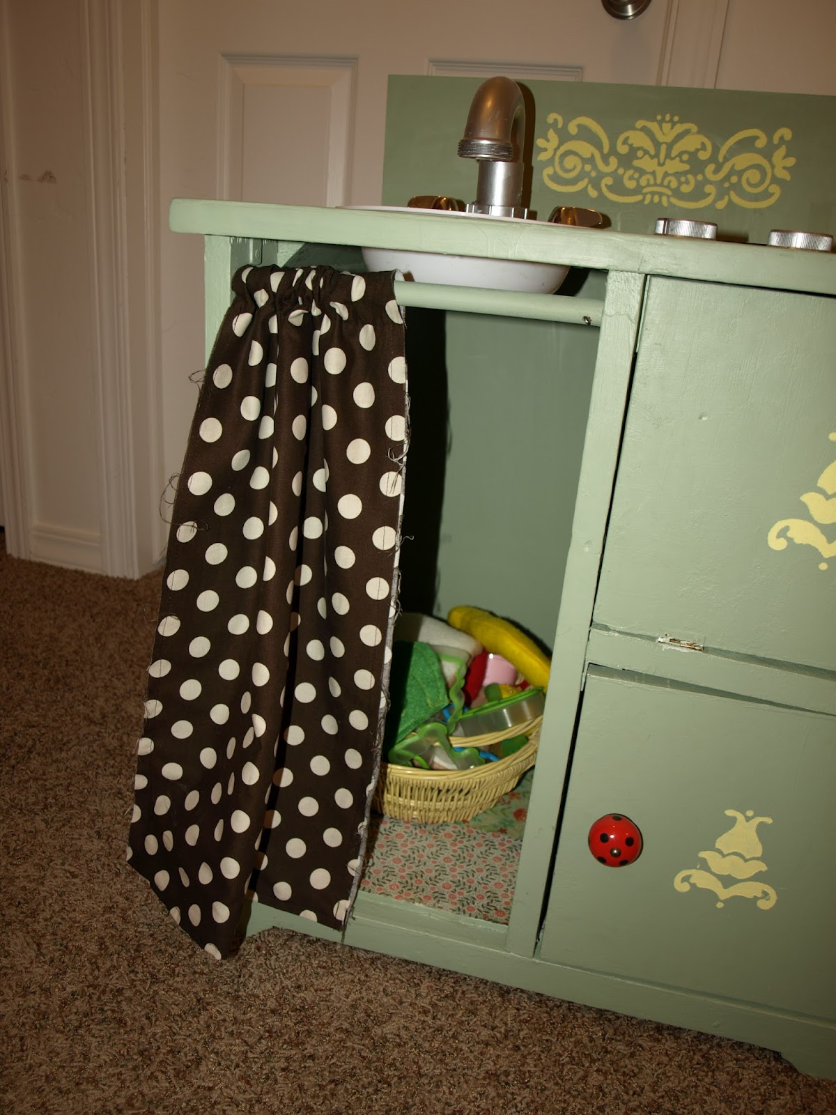 Play Kitchen From Old Furniture We Love Being Moms Homemade Kids Play Kitchen