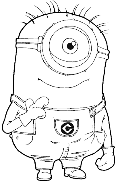 One Eyed Minion Coloring Pages