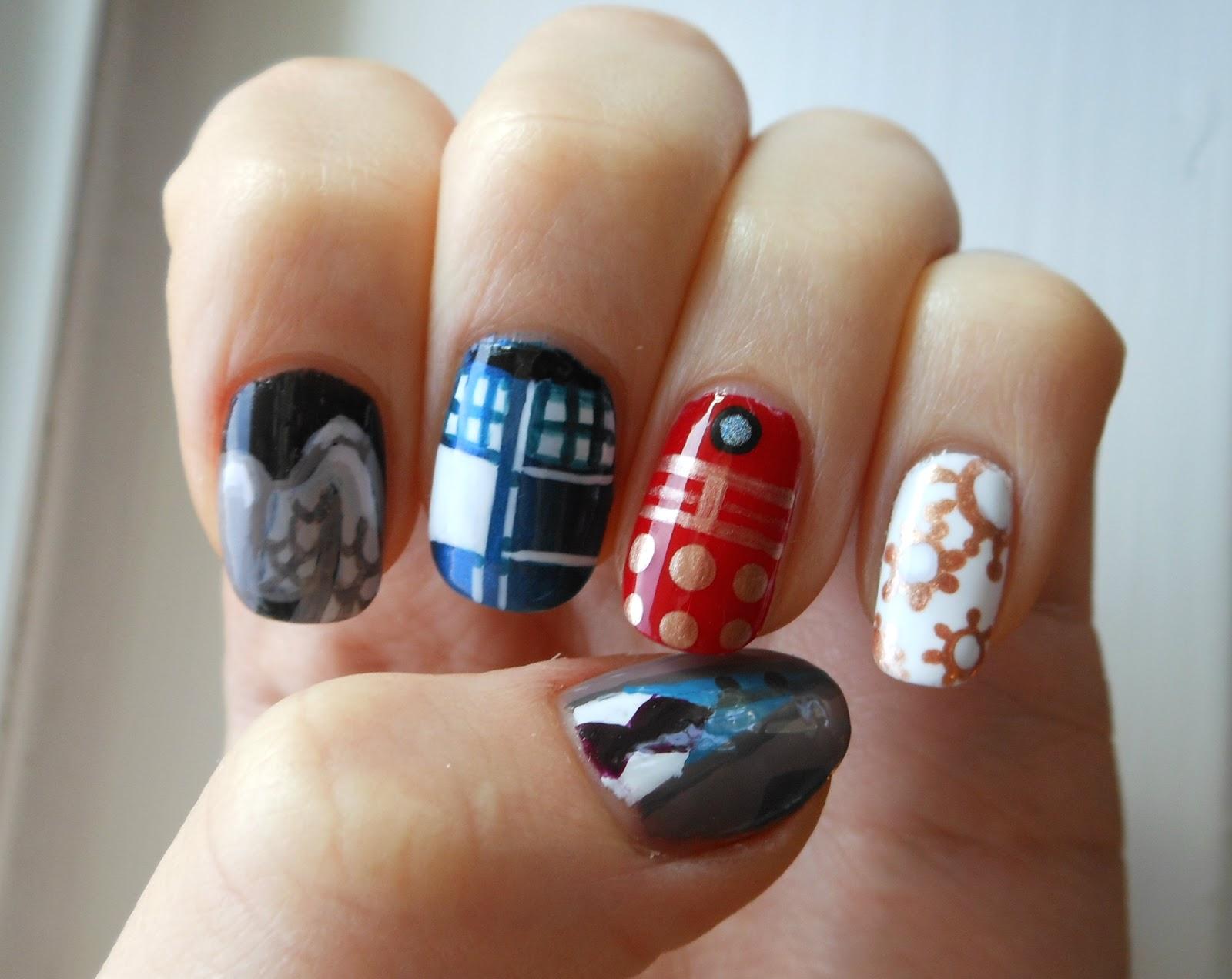 Holy Grail Nails: How-To: Doctor Who Nail Art (David Tennant era)