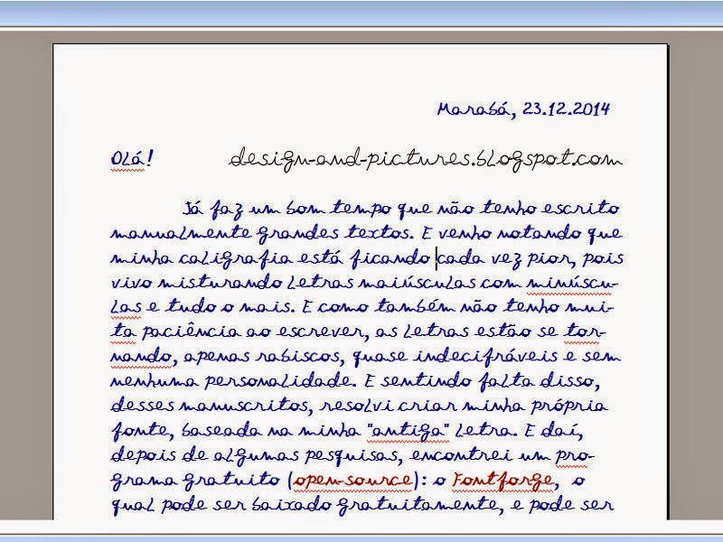 Captura de tela com texto de fonte manuscrita