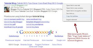 Optimasi SEO Browser Google Chrome-Internet Explorer-IE