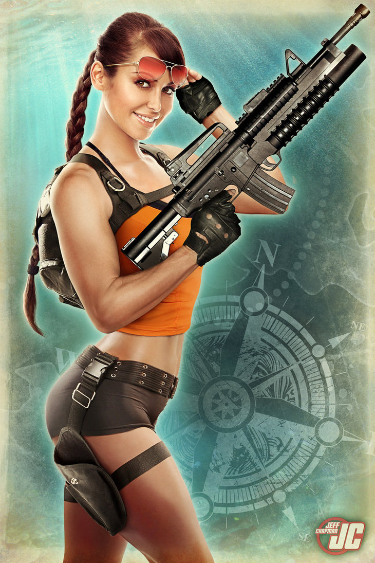 Lara Croft Sexy poster as Tomb Raider 3