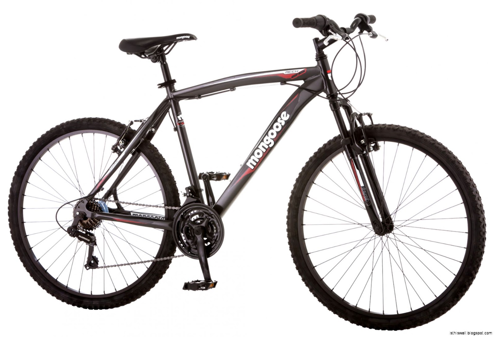 Mongoose Mech 26quot Front Suspension 21 Speed Mountain Bike   Men