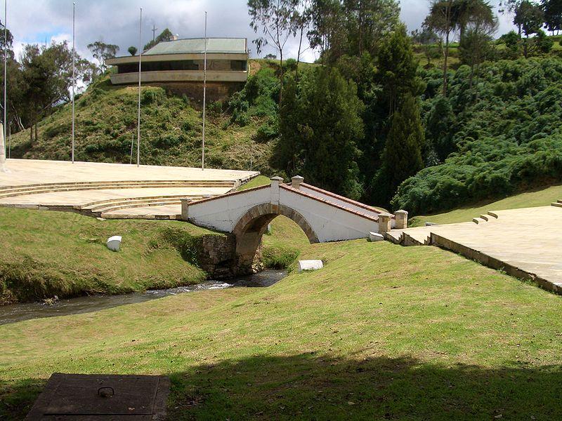 Puente de Boyacá donde se celebró el 7 de agosto de 2013 lugar donde se realizó un acto cívico más no una celebración nacional.