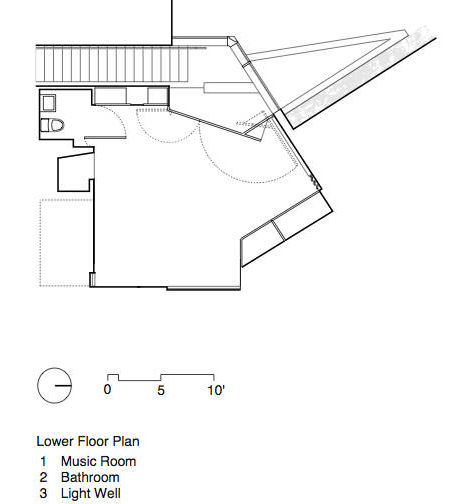 First floor plan pf Shaw House