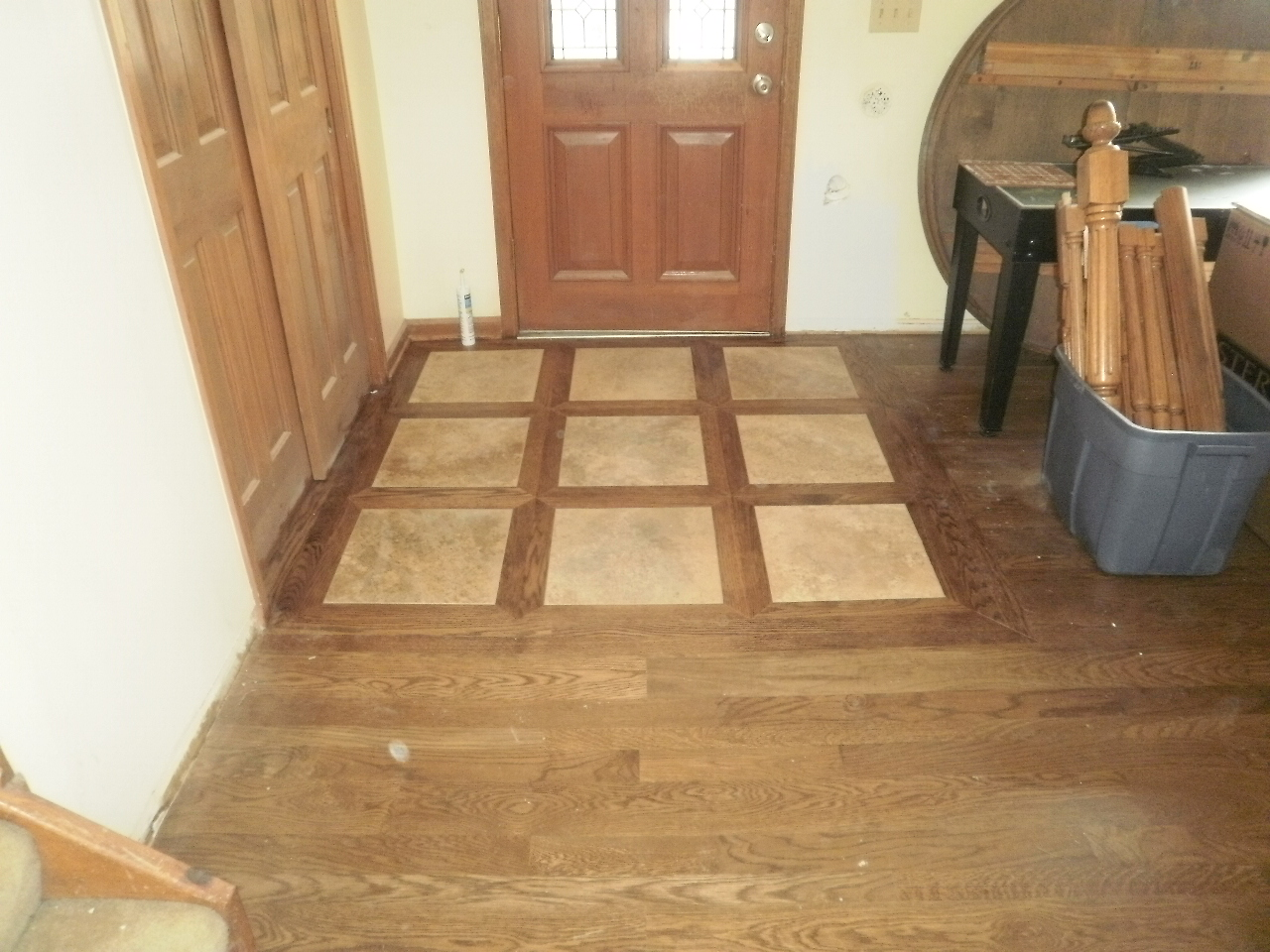 Travertine Tile Entryway