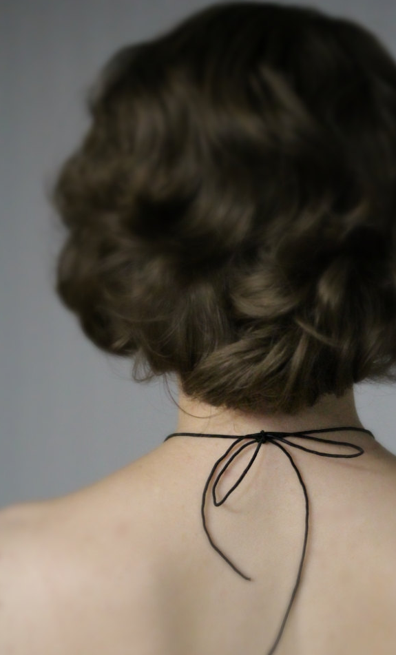 Romantic Silk Cord Necklace #victorian #lace #silk #black #antique #necklace