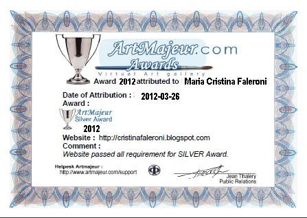 Premio de Plata y Certificado de Honor de ArtMajeur otogado a este Blog
