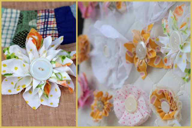 image flower corsage fabric tutorial diy vintage sheets kojodesigns kojo designs