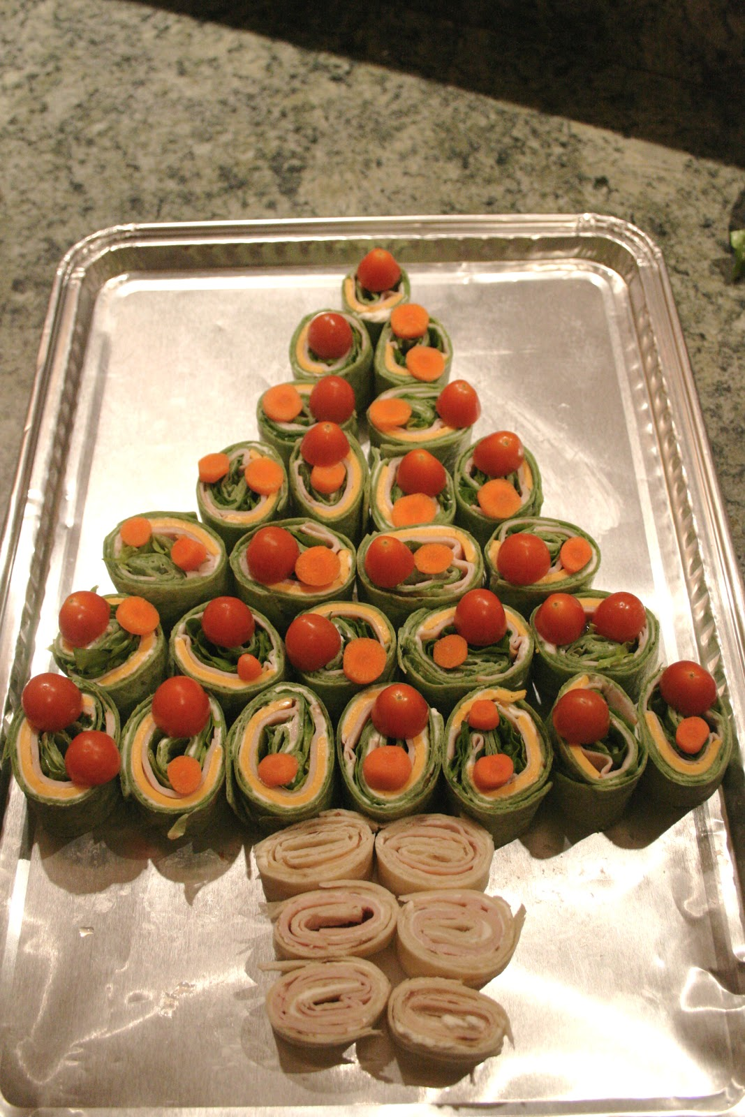 The nesting corral christmas tree roll ups - Christmas tree shaped appetizers ...