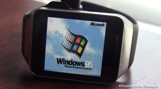 Video of Windows 95, Minecraft, and Doom Runs on Samsung Gear Smartwatch