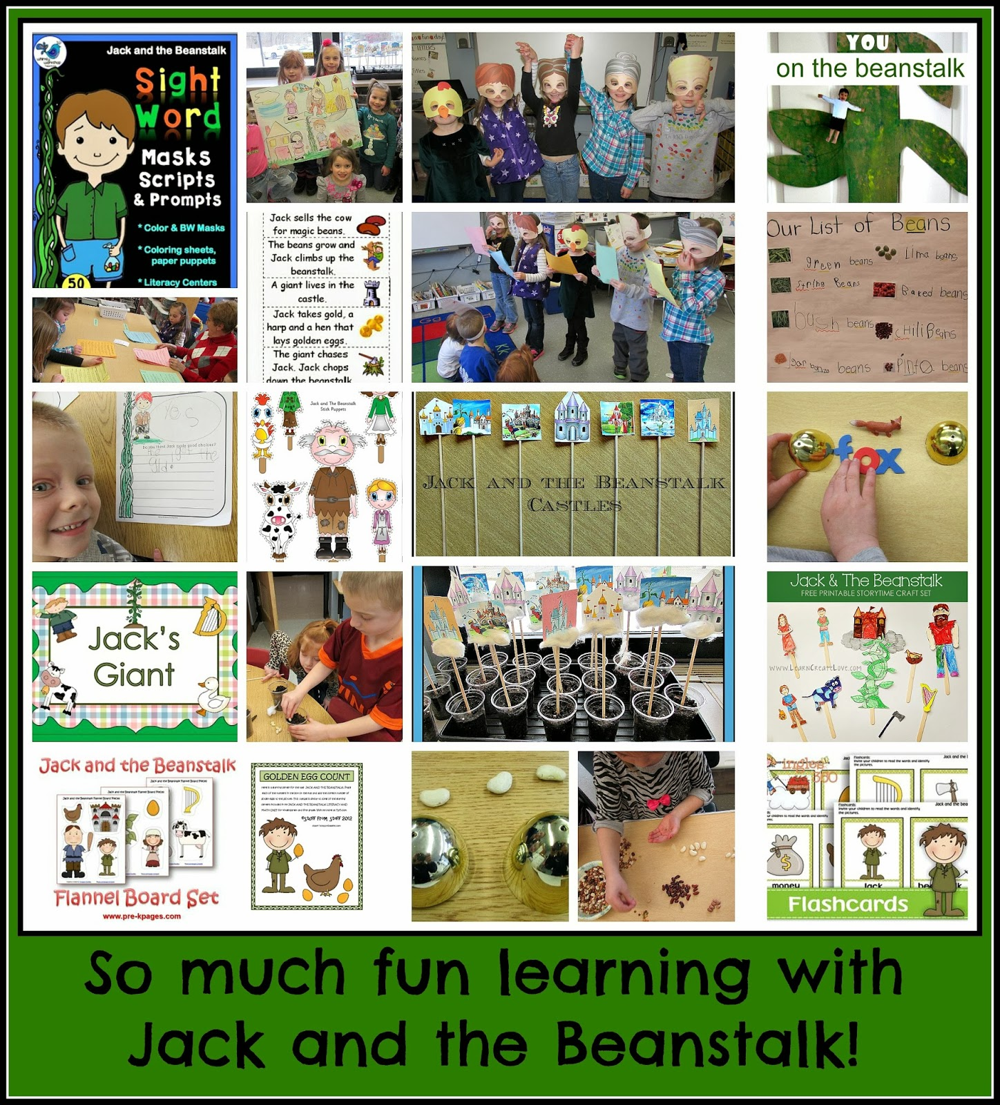 Jack And The Beanstalk Comprehensive Resources At PreK K Sharing