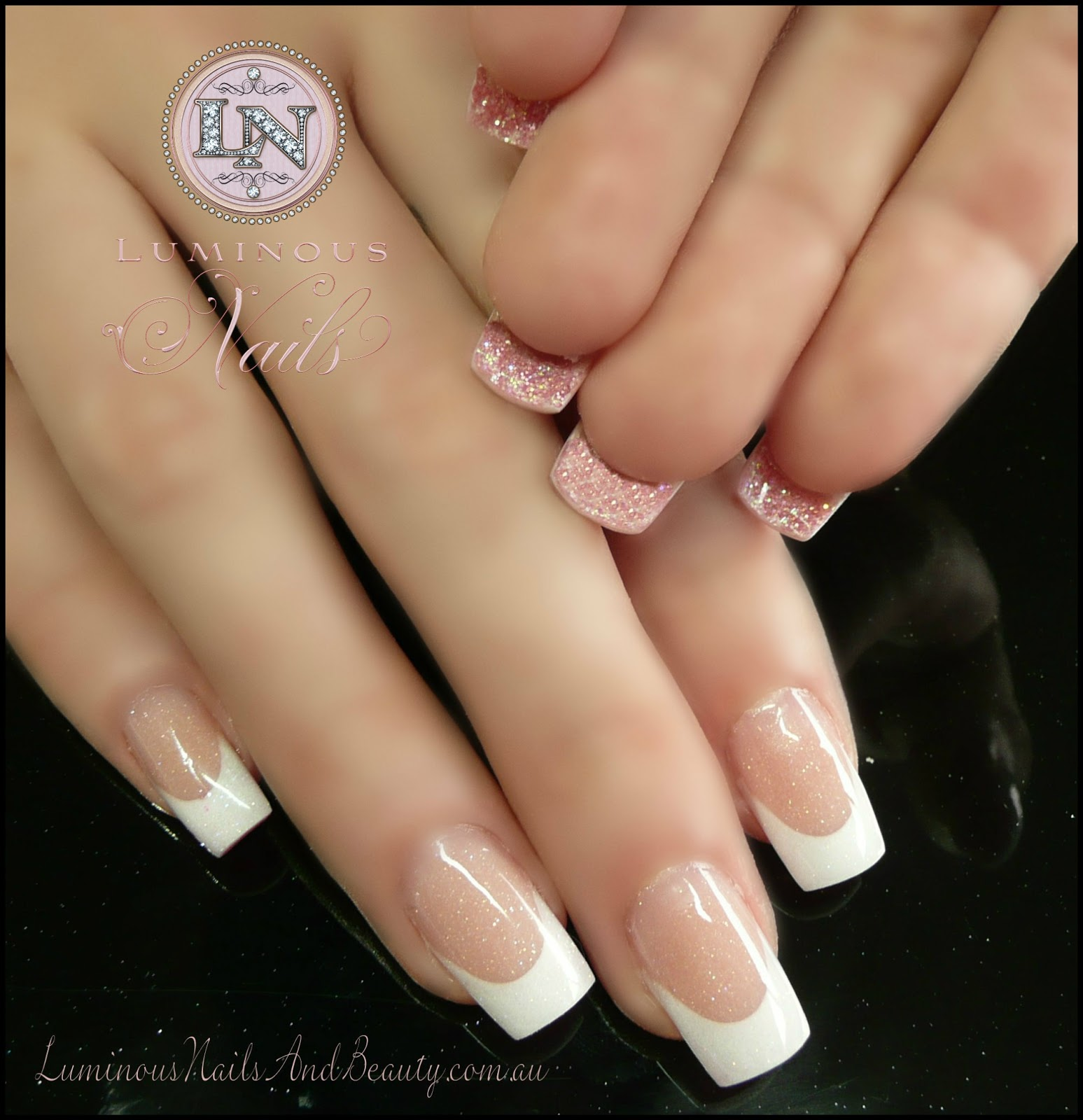 Acrylic Nails French: Luminous Nails: February 2013