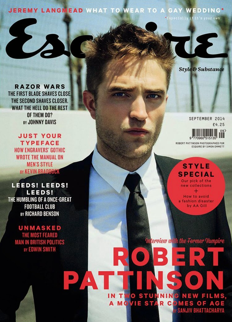 Robert Pattinson covers Esquire UK September 2014