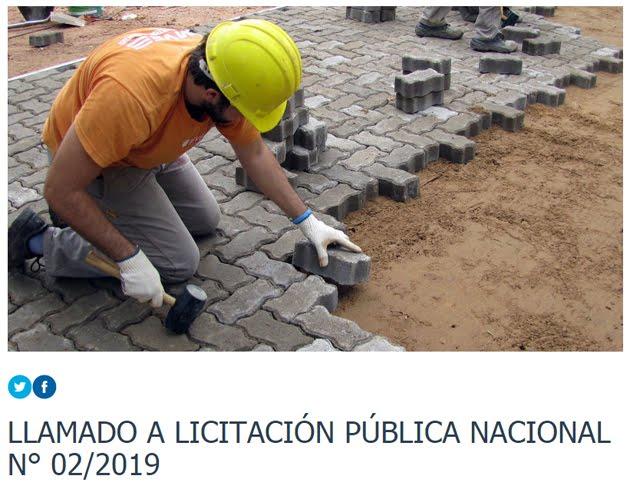 MUNICIPALIDAD DE SAUCE DE LUNA / LLAMADO A LICITACIÓN PÚBLICA NACIONAL N° 02/2019