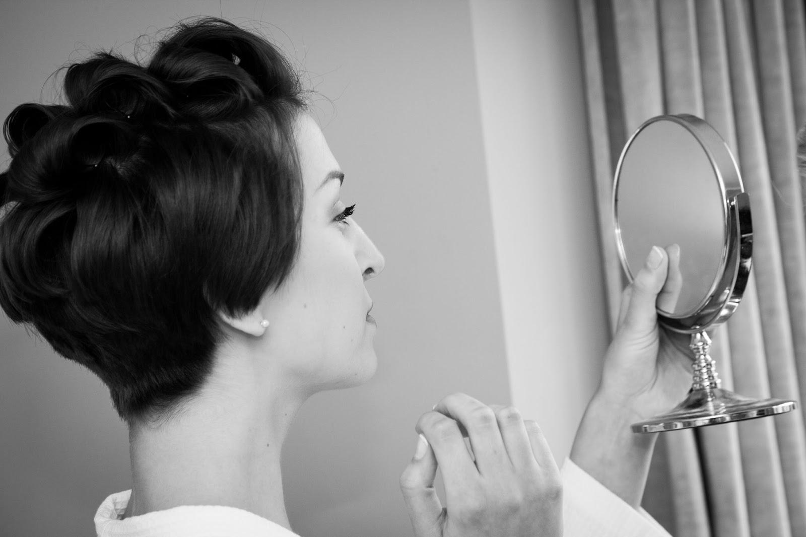 Morning prep, wedding make up, bride