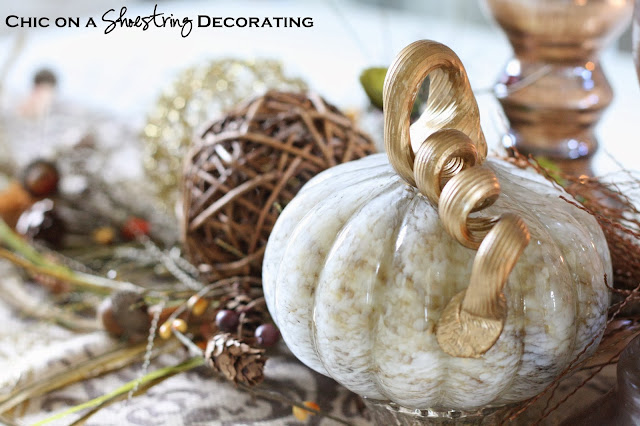 Chic on a Shoestring Decorating Fall Table Centerpiece, Pier 1 Imports