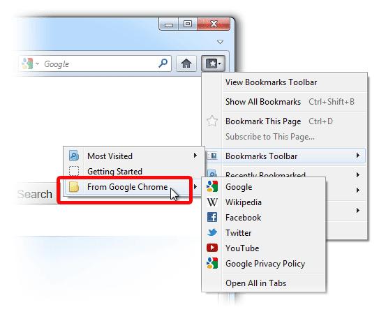 Cara Mengimpor Bookmark Dari Google Chrome ke Firefox